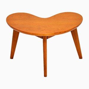 Vintage Walnut Boomerang Side Table, 1960s