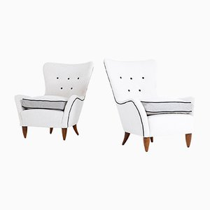 Italian Lounge Chairs by Brambilla, 1950s, Set of 2