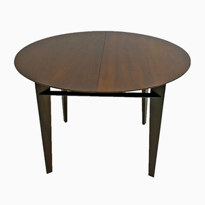Italian Round Teak Dining Table by Edmondo Palutari for Dassi, 1950s