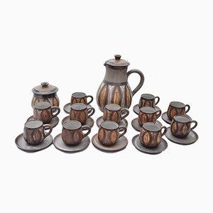 Französisches Vintage Kaffeeservice von Alexandre Kostanda für Vallauris, 26er Set