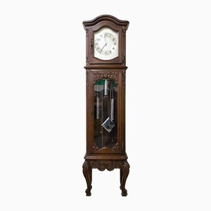 Mid-Century French Louis XV Style Longcase or Grandfather Clock with Chime