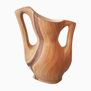 Vintage Imitation Wood Vase by Grandjean Jourdan for Vallauris