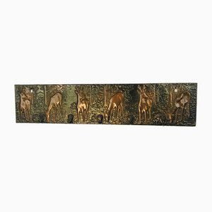 Vintage Copper Plate Country House Children's Coat Rack with Deers