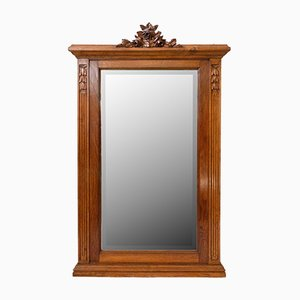 French Louis XVI Style Beveled Mantel Mirror, Early 20th Century