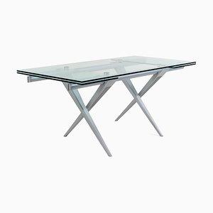Italian Model Tender Extendable Table by L. Cozza and L. Mascheroni for Desalto, 1980s