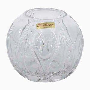 Deutsche Kristallkugel Vase von Nachtmann, 1960er