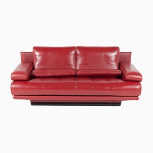 Vintage Red 2-Seater Sofa by Rolf Benz, 1980s