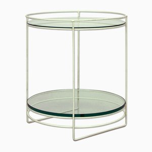 White German Steel Rod & Glass Side Table, 1960s