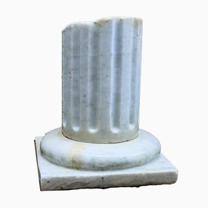 Vintage Classical / Ancient Ruin Style Marble Column