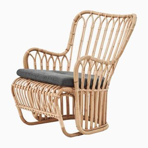 Rattan Armchairs by Tove and Edvard Kindt-Larsen, 1940s