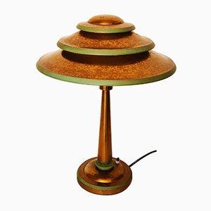 Art Deco Brass Lamp with Acid Patina from Sabino Paris
