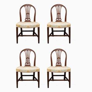 Hepplewhite Revival Mahogany Chairs, Set of 4