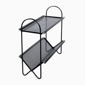 Black Metal Magazine Rack by Mathieu Matégot for Artimeta, 1950s