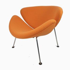 Mid-Century Orange Slice Sessel von Pierre Paulin für Artifort, 1980er