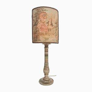 Französische Onyx Tischlampe, 1950er