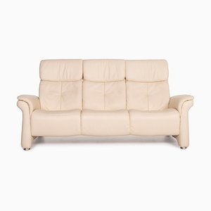 Cream Leather 3-Seater Sofa from Himolla