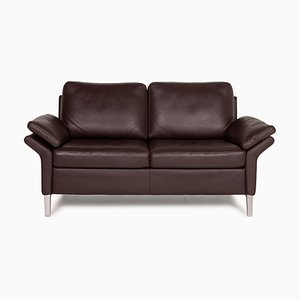 2-Seater Model 3300 Brown Leather Sofa by Rolf Benz