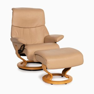 Beige Leather Relaxing Chair from Stressless