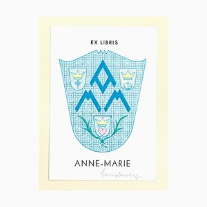 Unknown, Ex Libris Anne-Marie, Woodcut, Early 20th-Century
