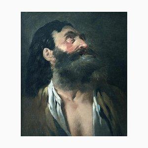 Retrato de un anciano, pintura al óleo, siglo XVIII