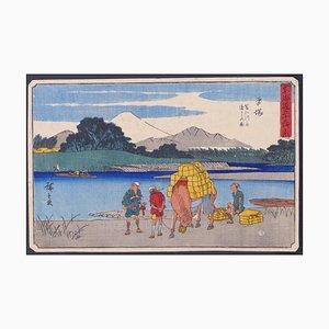 Utagawa Hiroshige, Hiratsuka, Woodcut, 1842