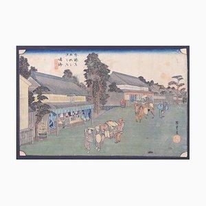 Utagawa Hiroshige, Narumi, Holzschnitt, 1833