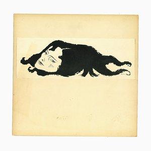 Adolf Reinhold Hallman, Erinyes, Chinesisches Tintenzeichnung, 1956