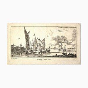 Reinier Zeeman, Port of Harlem, Etching, 1660
