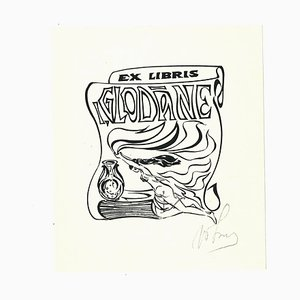 Ex Libris Glodane, Holzschnitt, Frühes 20. Jahrhundert