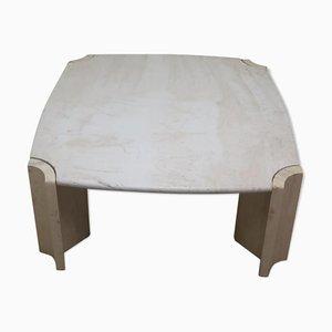 Vintage Travertine Table, 1980s