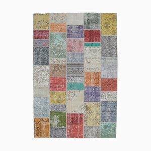 Patchwork Turkish Vintage Handmade Wool Rug