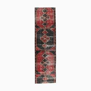 Handgewobener Türkischer Vintage Teppich aus Wolle