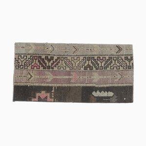 Kleiner Türkischer Vintage Fußmatte Teppich