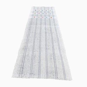 Turkish Vintage Kilim Handmade Wool Flatweave Runner Rug