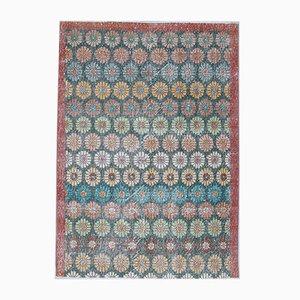 Turkish Vintage Handmade Wool Small Rug