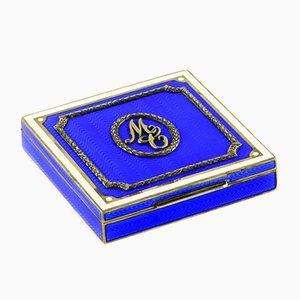 Blue Guilloche Cigarette Case, 1893
