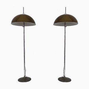 Lampade da terra regolabili in metallo e plastica di Gepo, anni '60, set di 2