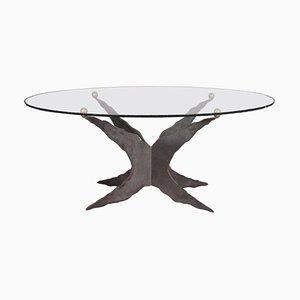 Tavolo da pranzo con ripiano in vetro