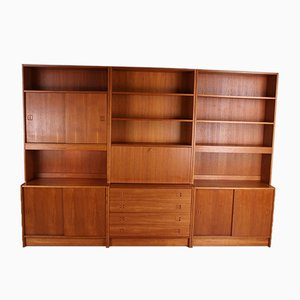 Vintage Danish Modern Wall Unit, Set of 6