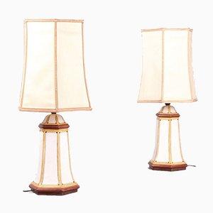 Lampade da tavolo in ceramica, set di 2