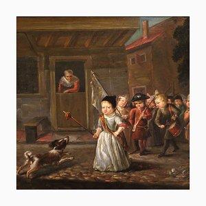 Oil on Panel, 19th Century
