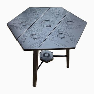 Hexagon-Shaped Occasional Table