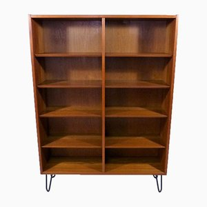 Danish Teak Bookcase with Hairpin Legs, 1960s