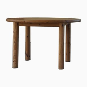 Round Solid Pine Dining Table by Rainer Daumiller for Hirtshals Savvaerk