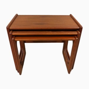 Danish Teak Nesting Tables by Salin Nyborg for Salin Mobler, 1960s