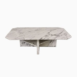 Vintage Italian Carrara Marble Coffee Table