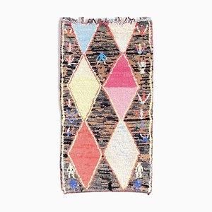 Handgemachter Berber Boucherouite Teppich