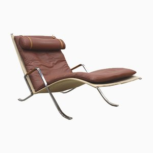 Grasshopper Chaiselongue von Preben Fabricius & Jorgen Kastholm für Kill International, 1960er