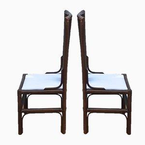 Philippinische Vintage Stühle aus Schilfrohr, 2er Set