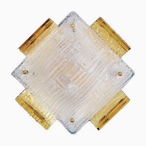 Applique vintage in vetro di Murano, anni '60, set di 3